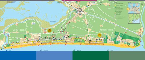 Cartina Lido Di Venezia.Mappa Di Jesolo Hotel In Jesolo